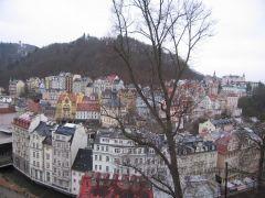 Вид на город с холма